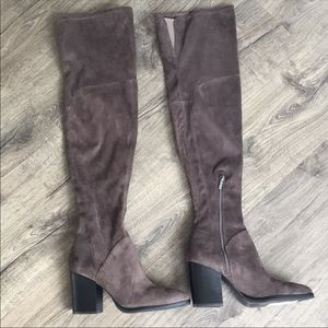 NEW!!! Marc Fisher faux suede over the knee boots
